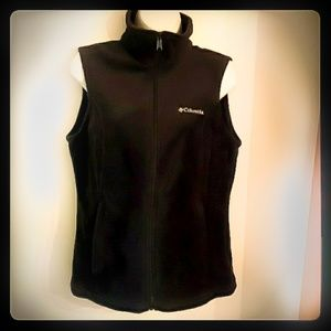 🔥❄Columbia Like-New black fleece vest